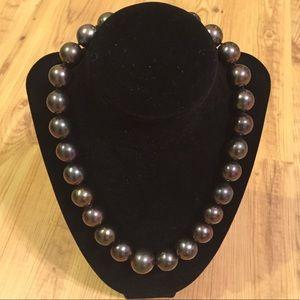 Rare large black pearls. Genuine. $2,000.